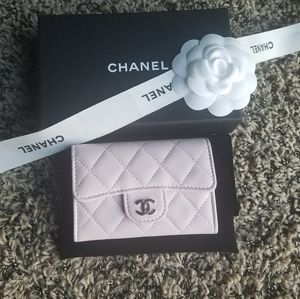 RARE! Auth. Chanel 18S Baby Pink Card Holder/ Case